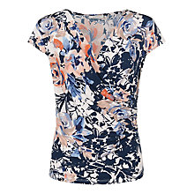 Buy Kaliko Floral Wrap Jersey Top, Multi Online at johnlewis.com