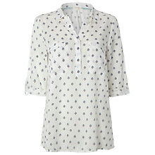 Buy White Stuff Easel Shirt, Canvas White Online at johnlewis.com