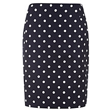 Buy Hobbs Orkney Skirt, Navy/Ivory Online at johnlewis.com