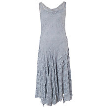 Buy Chesca Stretch Lace Cinderella Bead Trim Dress, Silver Grey Online at johnlewis.com