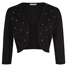 Buy Kaliko Pearl Detail Shrug, Black Online at johnlewis.com