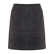 Buy Mint Velvet Suede Zip Skirt, Grey Online at johnlewis.com