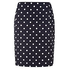 Buy Hobbs Orkney Skirt, Ivory/Navy Online at johnlewis.com