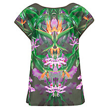 Buy Ted Baker Patterned Paradise T-Shirt, Olive Multi Online at johnlewis.com