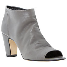 Buy Dune Caitlen Slouched Leather Ankle Shoe Boots, Grey Online at johnlewis.com