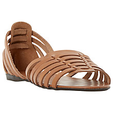 Buy Dune Gabonita Leather Cut Away Sandals Online at johnlewis.com