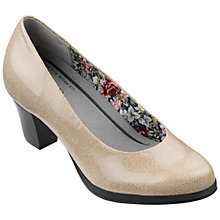 Buy Hotter Angelica Leather Block Heeled Court Shoes, Flint Online at johnlewis.com