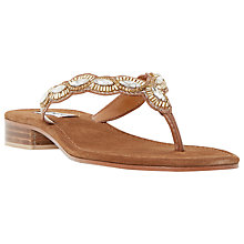 Buy Dune Nyla Beaded Leather Sandals Online at johnlewis.com