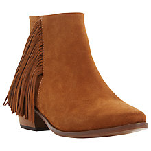 Buy Dune Preda Suede Fringe Ankle Boots Online at johnlewis.com