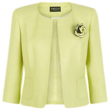 Buy Precis Petite Collarless Corsage Jacket, Bright Yellow Online at johnlewis.com