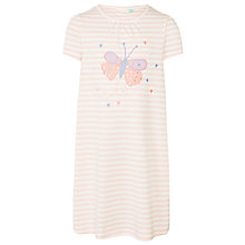 Buy John Lewis Girls' Butterfly Short Sleeve Nightdress, Pink Online at johnlewis.com