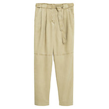 Buy Mango Soft Fabric Trousers, Beige/Khaki Online at johnlewis.com