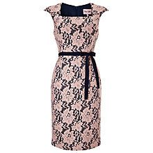 Buy Phase Eight Emeline Lace Dress, Navy/Pink Online at johnlewis.com