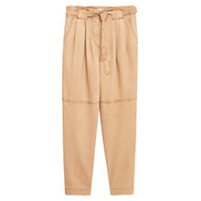Buy Mango Soft Fabric Trousers, Medium Brown Online at johnlewis.com