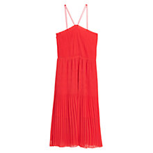 Buy Mango Textured Strap Dress, Medium Pink Online at johnlewis.com