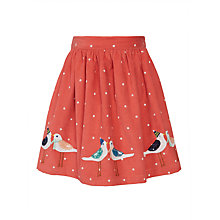 Buy John Lewis Girls' Bird Applique Corduroy Skirt, Red Online at johnlewis.com
