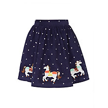 Buy John Lewis Girls' Horse Applique Corduroy Skirt, Navy Online at johnlewis.com