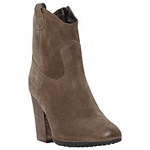Buy Dune Black Purly Western Style Ankle Boots, Taupe Suede Online at johnlewis.com