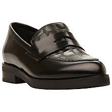 Buy Dune Black Finnley Leather Slip On Loafers Online at johnlewis.com