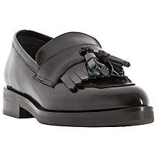 Buy Dune Black Ginnie Toe Pointed Leather Tassel Loafers Online at johnlewis.com