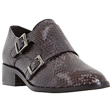 Buy Dune Black Farly Buckle Strap Brogues, Grey Leather Online at johnlewis.com