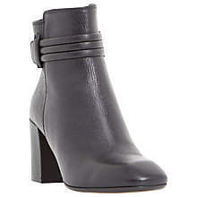 Buy Dune Black Olena Block Heeled Ankle Boots, Black Online at johnlewis.com
