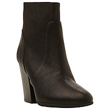 Buy Dune Black Peppar Block Heeled Ankle Boots, Black Online at johnlewis.com
