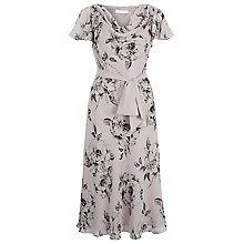 Buy Jacques Vert Etched Floral Flare Dress, Mid Neutral Online at johnlewis.com