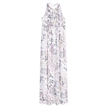 Buy Mango Foliage Print Maxi Dress, Natural White Online at johnlewis.com