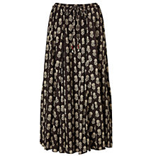 Buy East Anisha Print Skirt, Black Online at johnlewis.com