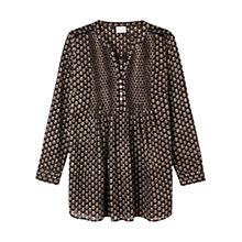 Buy East Anisha Print Shirt, Black Online at johnlewis.com