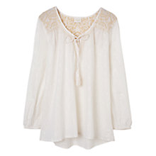 Buy East Embroidered Lurex Blouse Top Online at johnlewis.com
