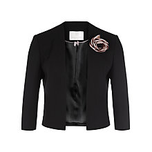 Buy Jacques Vert Petite Edge to Edge Jacket, Black/Multi Online at johnlewis.com