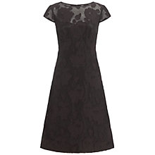 Buy Adrianna Papell Sweetheart Illusion Dress, Black Online at johnlewis.com