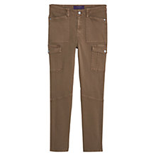 Buy Violeta by Mango Cotton Cargo Trousers, Dark Brown Online at johnlewis.com
