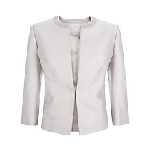 Buy Jacques Vert Pearl Embellishment Jacket, Neutral Online at johnlewis.com