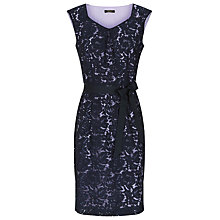 Buy Precis Petite Lace Overlay Dress, Blue Online at johnlewis.com