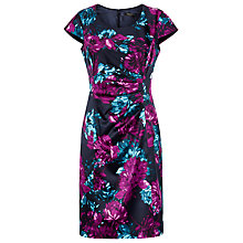 Buy Precis Petite Floral Print Dress, Multi Black Online at johnlewis.com