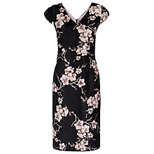 Buy Jacques Vert Petite Orchid Print Dress, Pink/Black Online at johnlewis.com