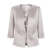 Buy Jacques Vert Sateen Edge To Edge Jacket, Mid Neutral Online at johnlewis.com