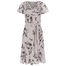 Buy Jacques Vert Petite Soft Floral Dress, Neutral/Black Online at johnlewis.com