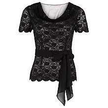 Buy Jacques Vert Petite Sequin Top, Black Online at johnlewis.com
