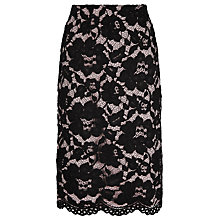 Buy Jacques Vert Opulent Lace Pencil Skirt, Oyster/Black Online at johnlewis.com
