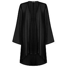 Buy Jacques Vert Soft Longline Cover Up, Black Online at johnlewis.com