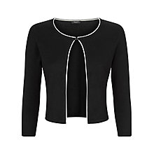 Buy Precis Petite Edge to Edge Tipped Shrug, Black Online at johnlewis.com