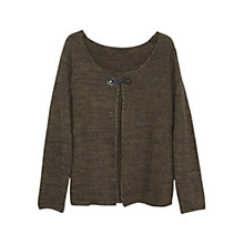 Buy Violeta by Mango Metallic Detail Cardigan, Medium Green Online at johnlewis.com