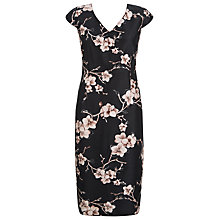 Buy Jacques Vert Orchid Print Dress, Black/Multi Online at johnlewis.com
