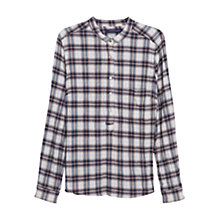 Buy Violeta by Mango Check Cotton Shirt, Burnt Orange Online at johnlewis.com
