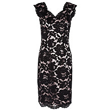 Buy Jacques Vert Petite Opulent Dress, Oyster/Black Online at johnlewis.com