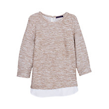 Buy Violeta by Mango Cotton-Blend Sweatshirt, Light Beige Online at johnlewis.com